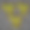 3 poussins jaunes hauteur 4 cm