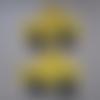 2 voitures jaune maïs longueur 5.5 cm