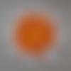 Marguerite orange et blanche au crochet