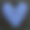 Coeur blanc ajouré 20 cm au crochet