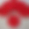 6 sous-verres rouges au crochet