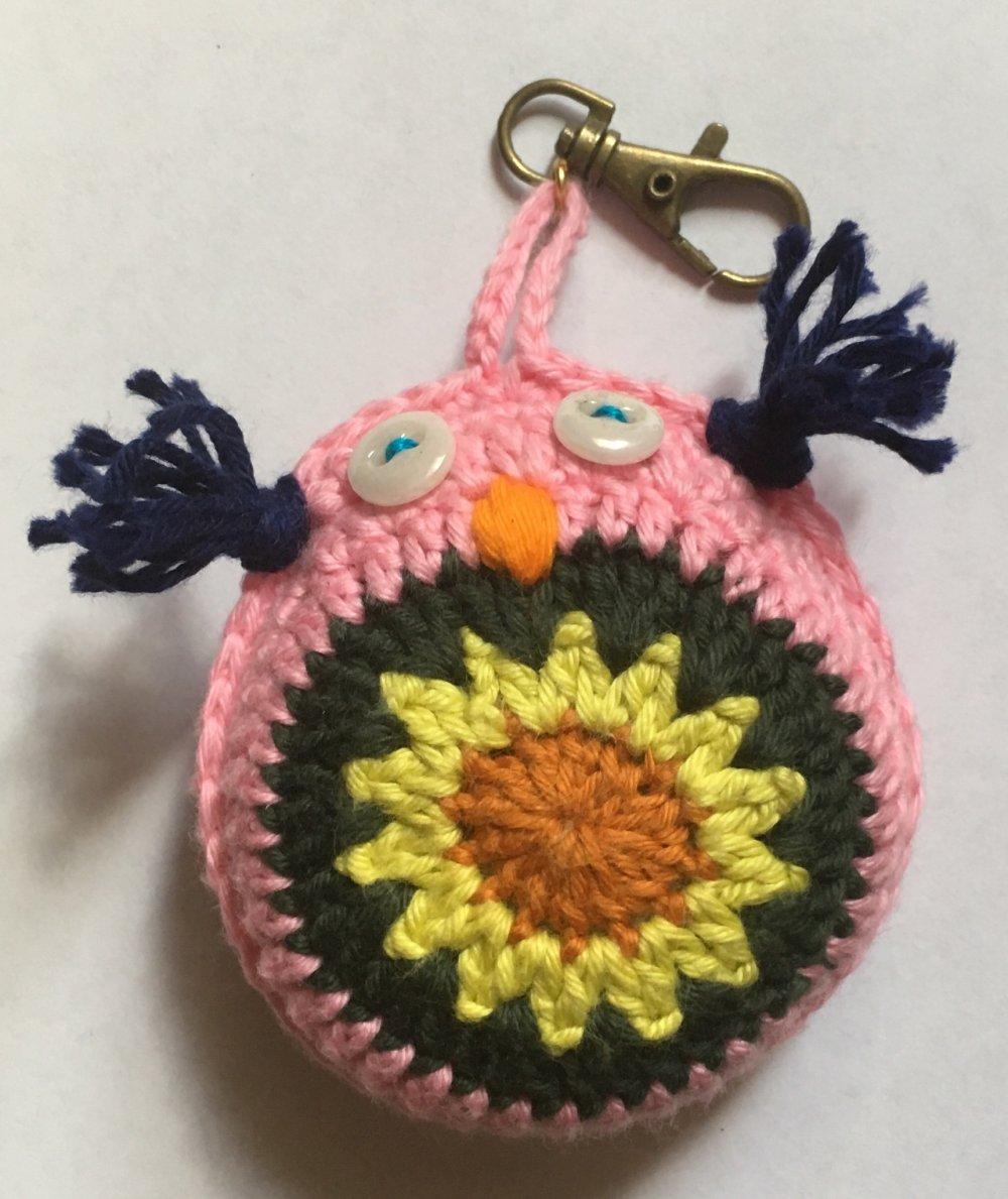 Porte clefs chouette au crochet