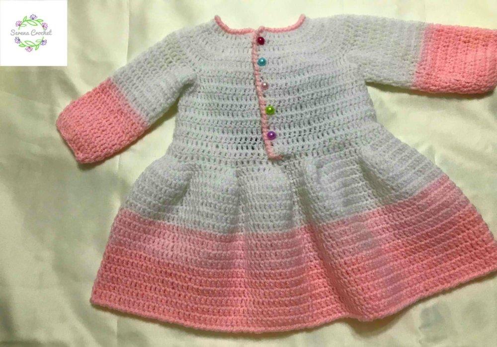 Robe bébé fille licorne en crochet fait main