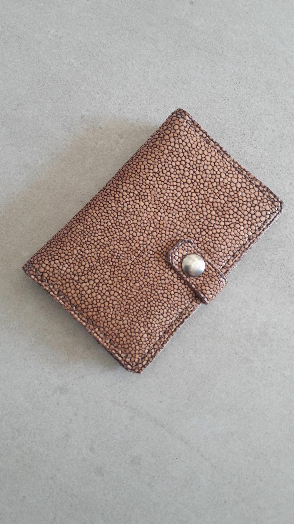 porte cartes, étui  en cuir marron pour femme , cadeau de noel femme