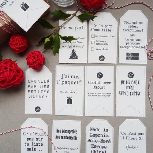 Etiquettes paquets cadeaux