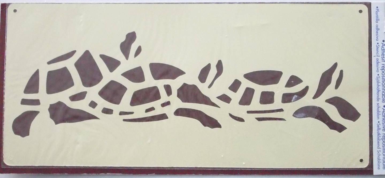 POCHOIR  plastique adhesif -   motif  LES TORTUES  - ref. 1005