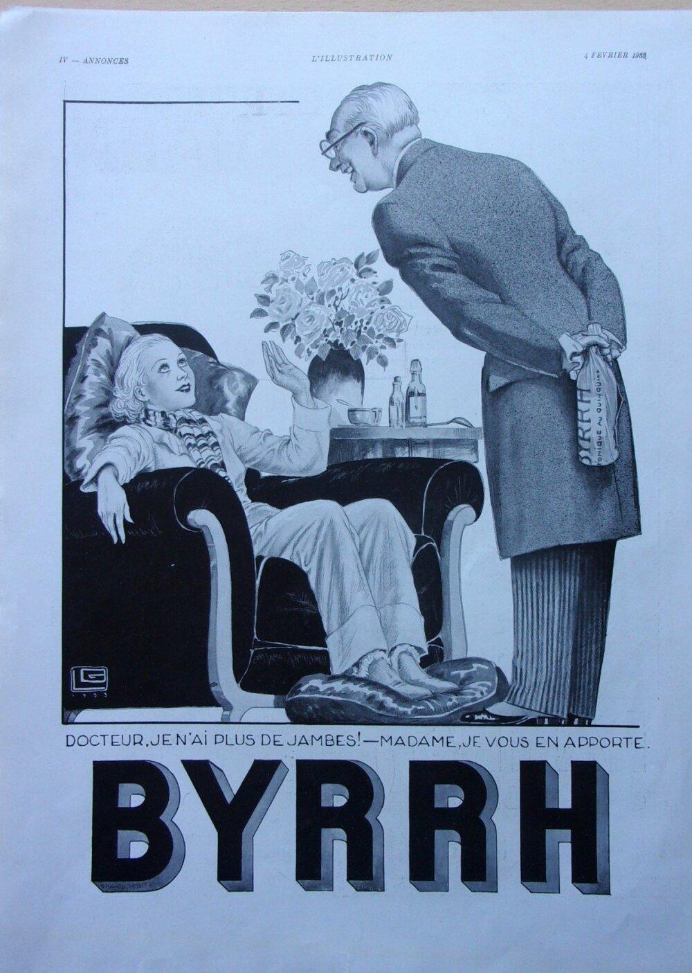 byrrh/page de publicité/advertising/1933   ref. 59986
