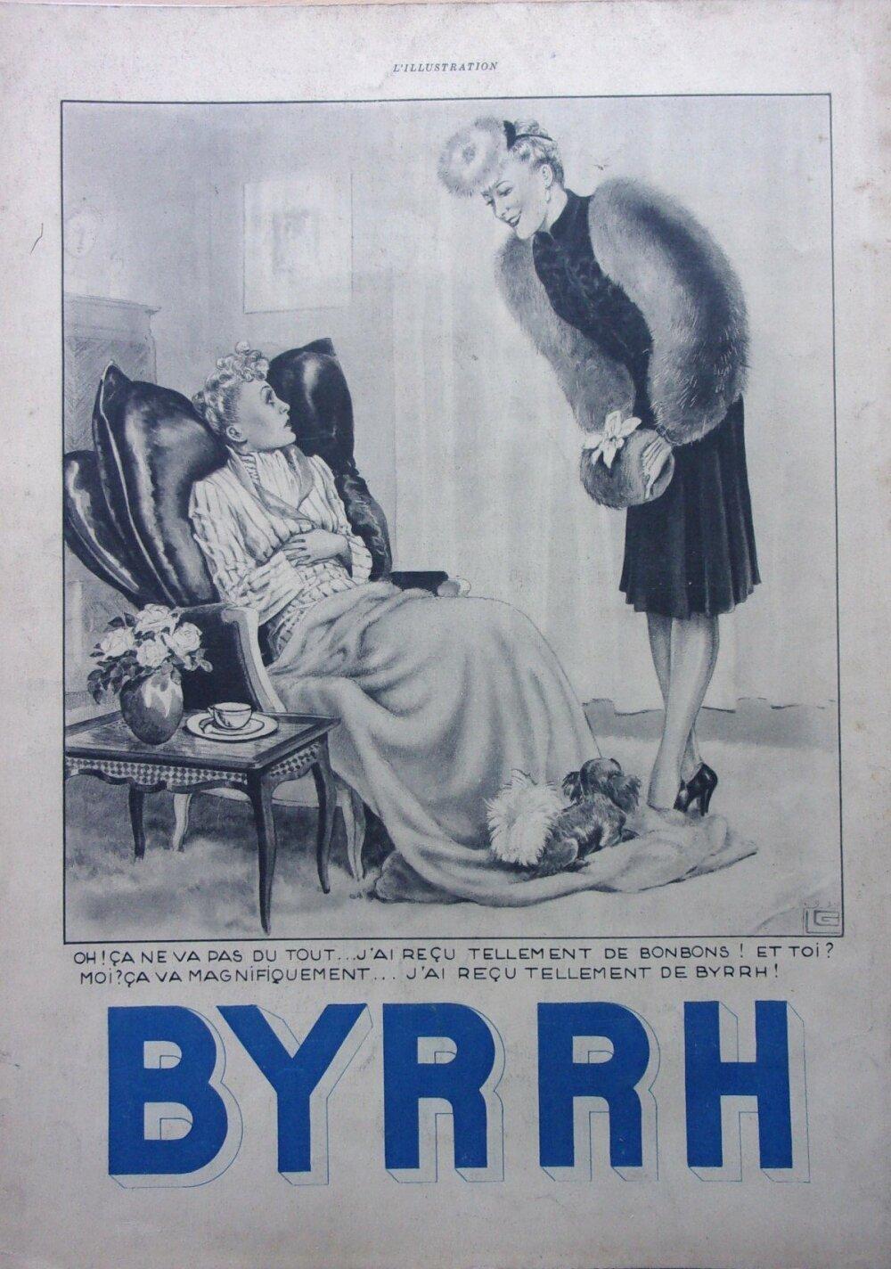 byrrh/page de publicité/advertising/1939  ref. 59980