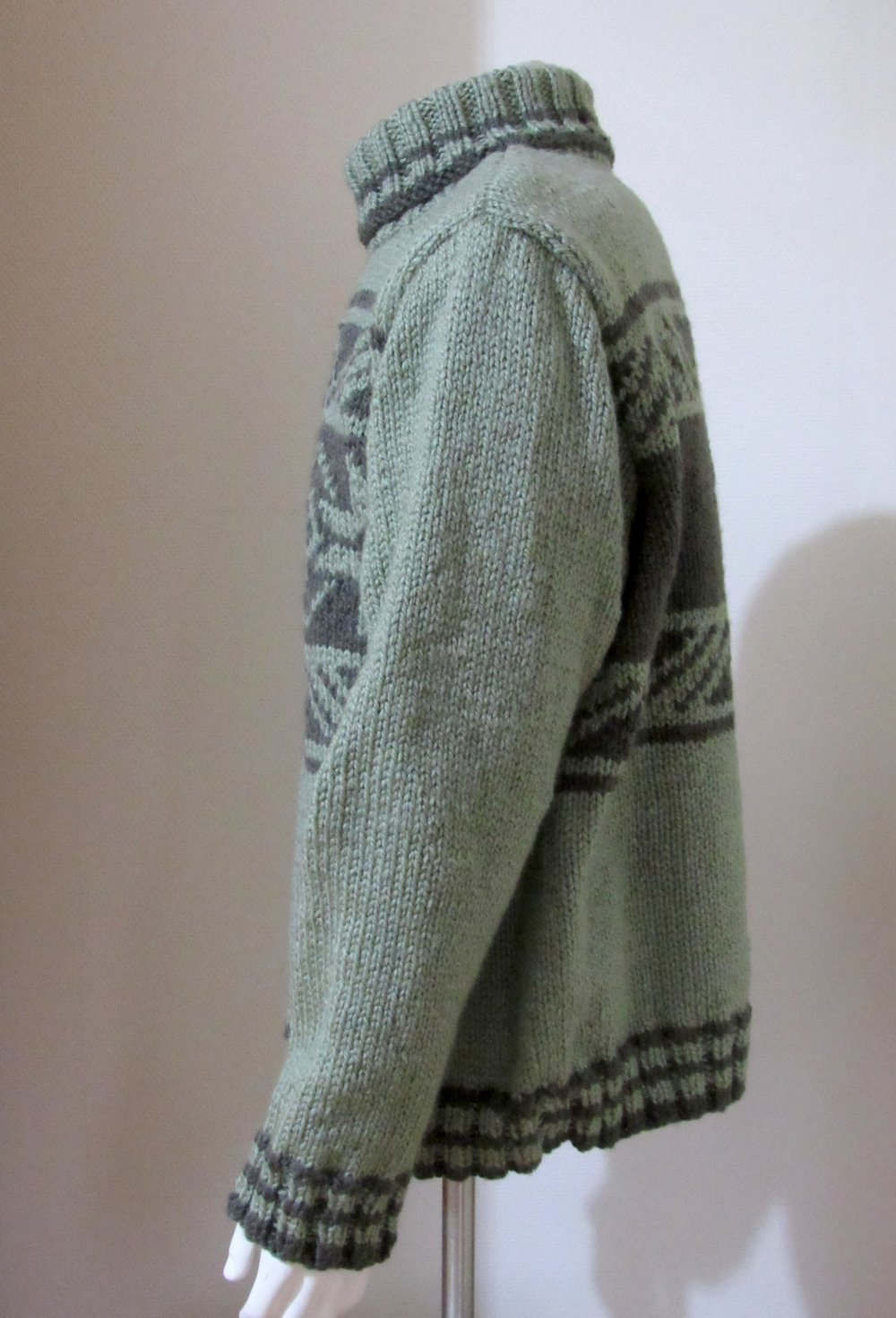 Pull homme à motifs norvégien, plein hiver grande taille.