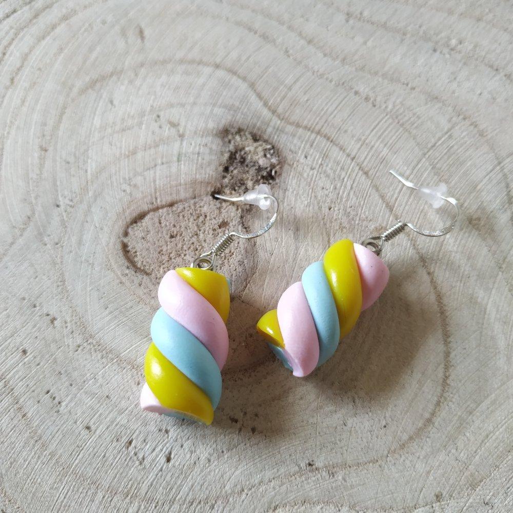 Boucles d'oreille marshmallow enfant