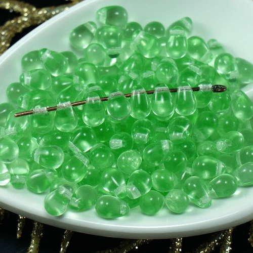 50pcs Claire en Cristal de Verre tchèque Petite Larme Perles de 4 mm x 6 mm