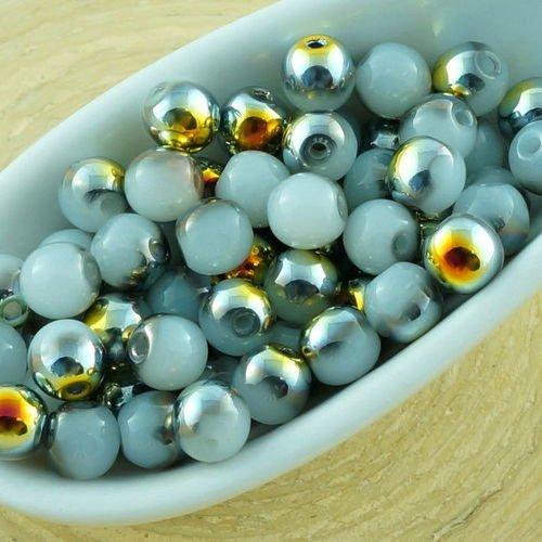 #80A gris argent 100+pcs x Verre Perle 8 mm Perles rondes