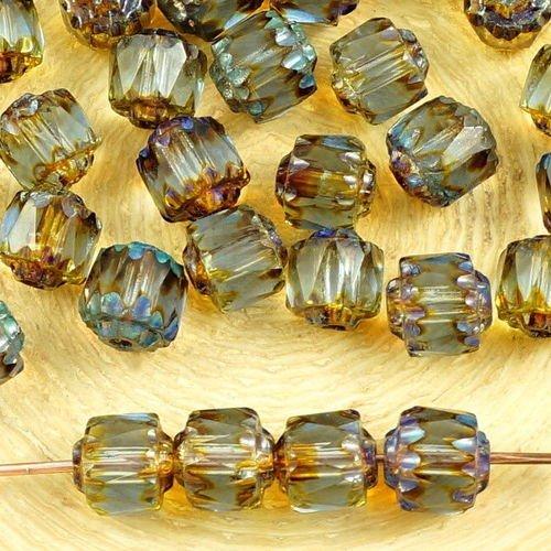 30 FACETTES Cristal Bohême  6MM   ALEXANDRITE