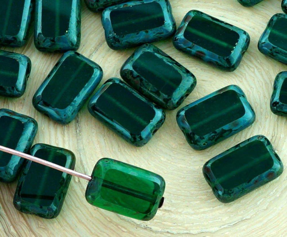 Couleur Vert Emeraude Foncé 8pcs picasso brun crystal foncé vert émeraude rustique table de découpe à  plat rectangle de verre tc sku-32483