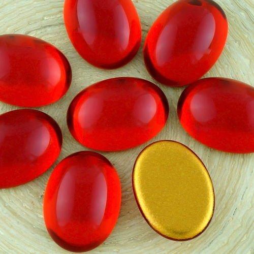 Rouge rubis Verre tch/èque Ovale en forme de D/ôme de lH/émisph/ère Perles 14mm x 7mm 6pcs