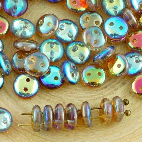 Perles de verre pressées feuille 15 x 12 mm Blanc Opaque 20 St.