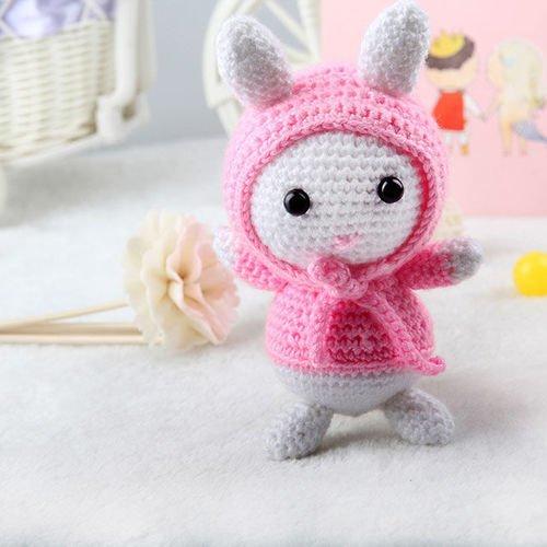 AMIGURUMI (crochet) : petit lapin blanc | Petit lapin, Crochet ... | 500x500