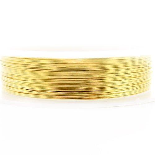 9m 30 10yrd or enveloppé artistique aluminium perles de l'artisanat de bijoux en fil d'enrouler sur  sku-40329