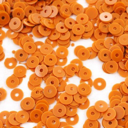 20g opaque brun rond plat paillettes confettis à coudre sur la broche de la broderie 4mm trou 1mm sku-42065