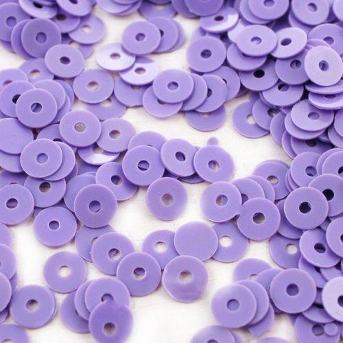 20g opaque violet rond plat paillettes confettis à coudre sur la broche de la broderie 4mm trou 1mm sku-42062