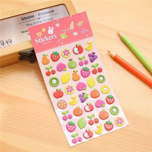 Les Fruits De La Nourriture En 3d Gonflés Kawaii