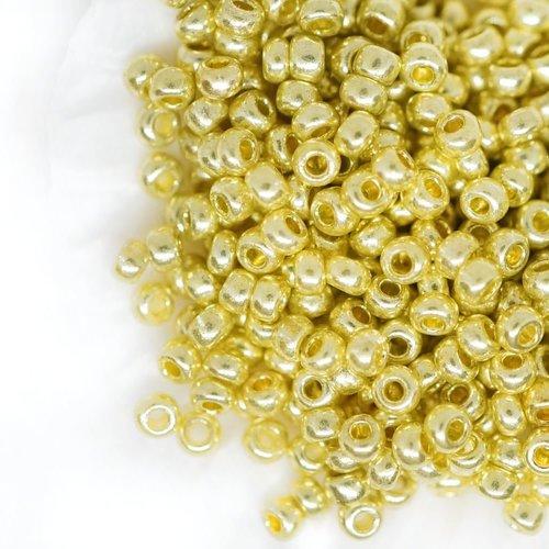 Preciosa-rocaille 2,2 mm Jaune Gold Metallic 20 G