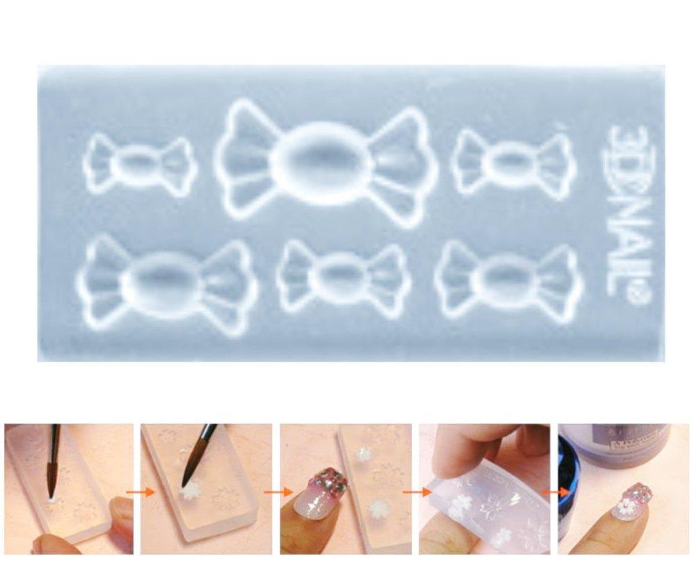 1Pc Transparent 6 Bonbon Sucré De La Nourriture En Silicone 3D Mini Moule Pour L'Art D'Ongle De Peti SKU-43507