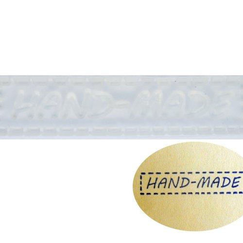 1pc transparent à la main message de la couture en silicone de timbre de savon bougie scrapbooking r sku-43618