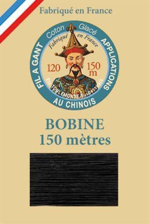 1 Bobine Noir 180 Fil Au Chinois Sajou Le Port De Gants Au Fil Ciré De Coton Français Patchwork Appl SKU-130117