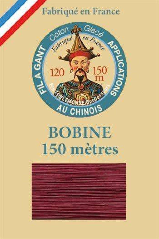 1 Bobine De Grenat 535 Fil Au Chinois Sajou Le Port De Gants Au Fil Ciré De Coton Rouge Française Pa SKU-130120