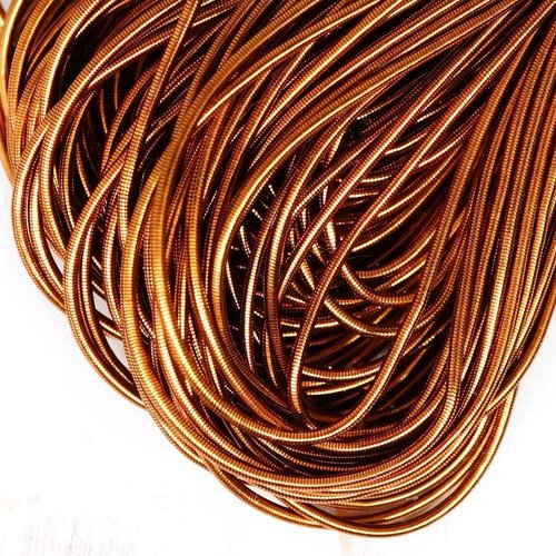 10g de lumière de cuivre rond lisse de à la main broderie française fine du fil métallique orfèvreri sku-133102