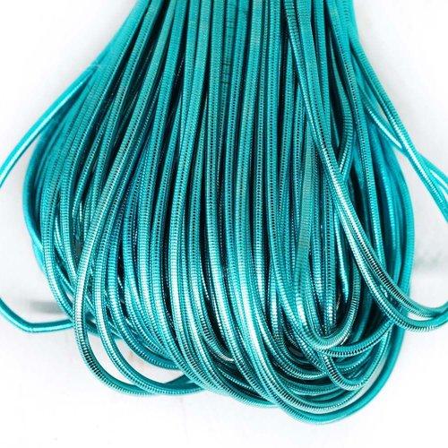 10g bleu turquoise rond lisse de cuivre à la main broderie française fine du fil métallique orfèvrer sku-133158