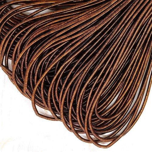 10g mat bronze antique rond lisse de cuivre à la main broderie française fine du fil métallique orfè sku-133161
