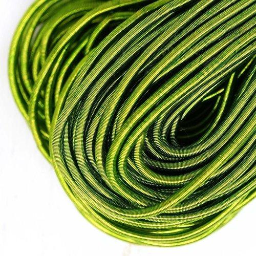 10g perroquet vert rond lisse de cuivre à la main broderie française fine du fil métallique orfèvrer sku-133162