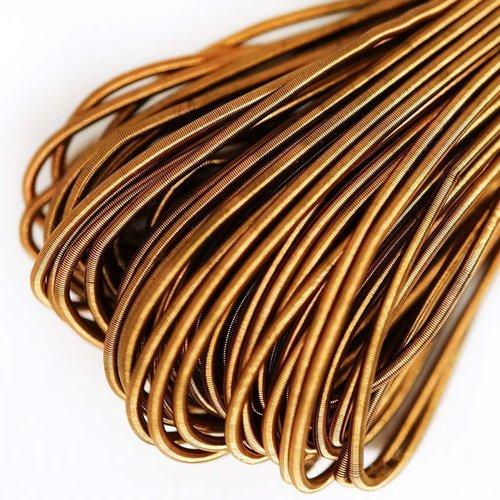 10g mat en laiton d'or rond lisse de cuivre à la main broderie française fine du fil métallique orfè sku-133163