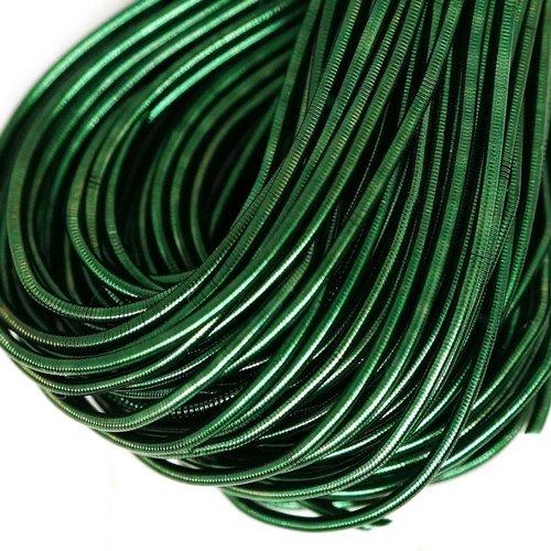 10g foncé vert émeraude ronde lisse de cuivre à la main broderie française fine du fil métallique or sku-133164