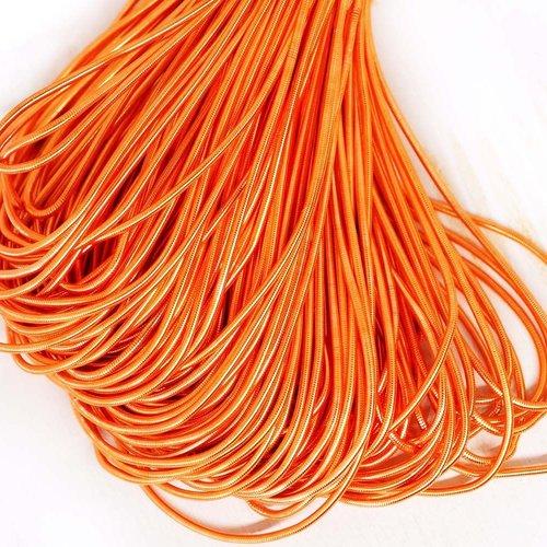 10g de pêche orange rond lisse de cuivre à la main broderie française fine du fil métallique orfèvre sku-133168