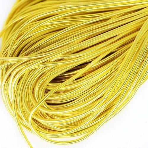 10g or jaune rond lisse de cuivre à la main broderie française fine du fil métallique orfèvrerie lin sku-133169