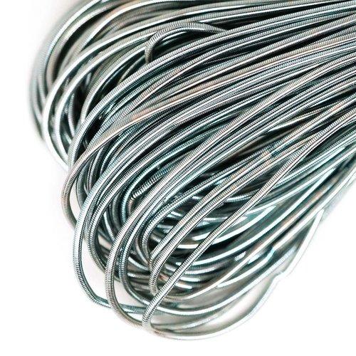 10g de lumière hématite argent rond lisse de cuivre à la main broderie française fine du fil métalli sku-133171