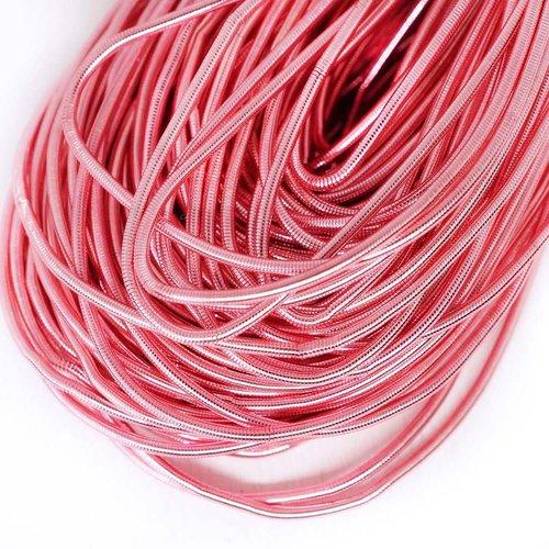 10g bébé rose de lumière rond lisse de cuivre à la main broderie française fine du fil métallique or sku-133173