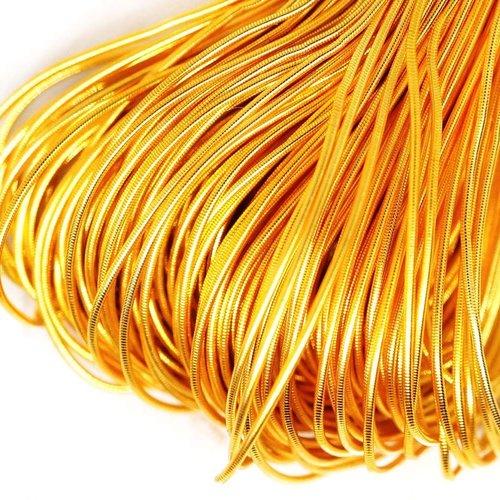 10g jaune or brillant rond lisse de cuivre à la main broderie française fine du fil métallique orfèv sku-133188