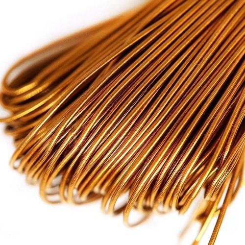 10g de miel foncé ronde en or lisse de cuivre à la main broderie française fine du fil métallique or sku-133189