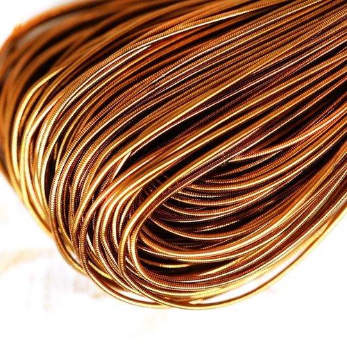 10g antique de couleur or foncé rond lisse de cuivre à la main broderie française fine du fil métall sku-133190