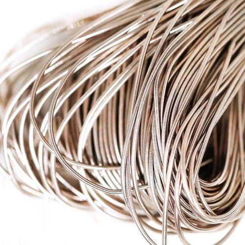 10g lumière gris argenté rond lisse de cuivre à la main broderie française fine du fil métallique or sku-133192
