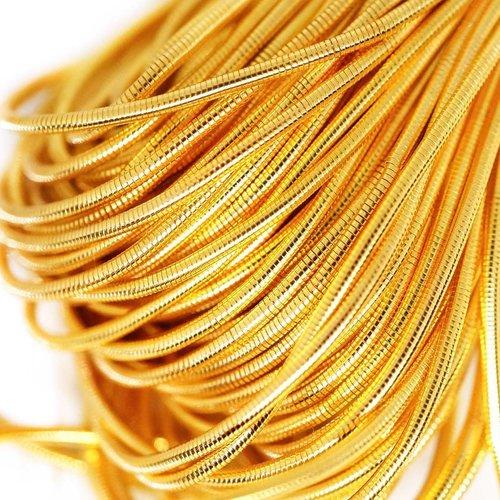 10g jaune royal or rond lisse de cuivre à la main broderie française fine du fil métallique orfèvrer sku-133196