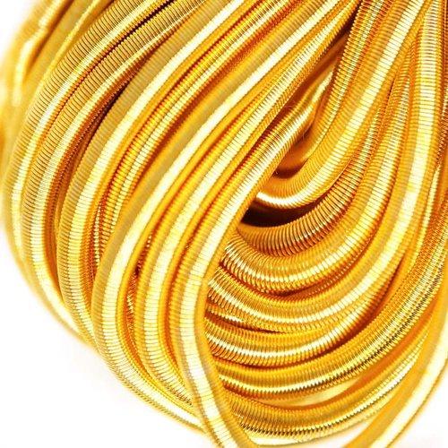 10g d'or jaune rond et lisse de cuivre à la main broderie française fine du fil métallique orfèvreri sku-133197