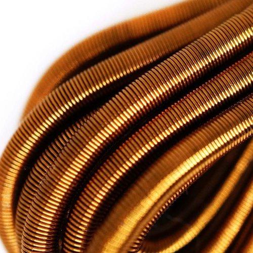 10g de bronze or rond lisse de cuivre à la main broderie française fine du fil métallique orfèvrerie sku-133201