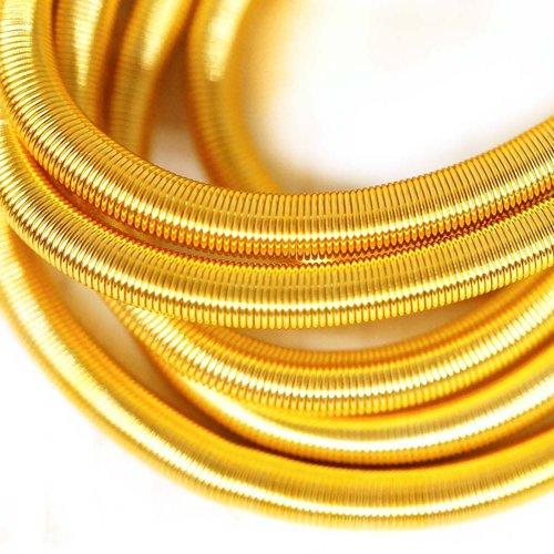 10g brillant en or jaune rond lisse de cuivre à la main broderie française fine du fil métallique or sku-133202