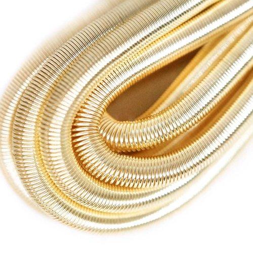 10g de lumière argentée ronde en or lisse de cuivre à la main broderie française fine du fil métalli sku-133203
