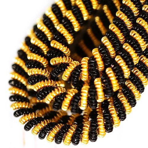 10g or noir tour de spirale de cuivre torsadés broderie à la main française fine métallique coupe-fi sku-133346